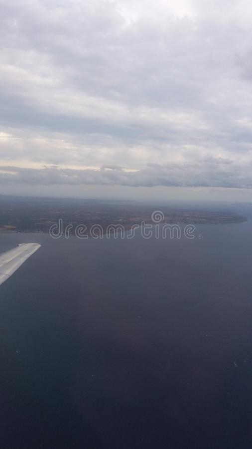 View from airplane royalty free stock photo