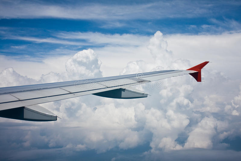 View from the airplane's window royalty free stock photos