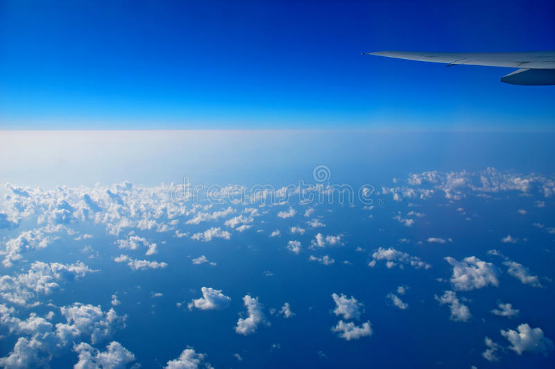View from the airplane window royalty free stock images