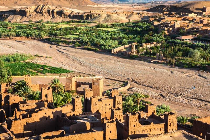 View of Ait Benhaddou Kasbah, Ait Ben Haddou, Ouarzazate, Morocco royalty free stock image