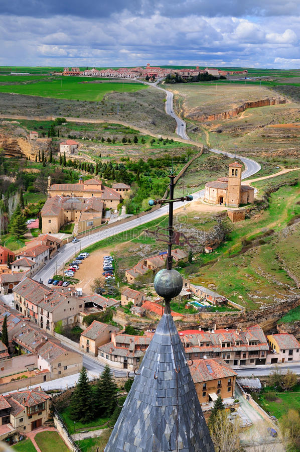 View from the Castle of Segovia; stock photo
