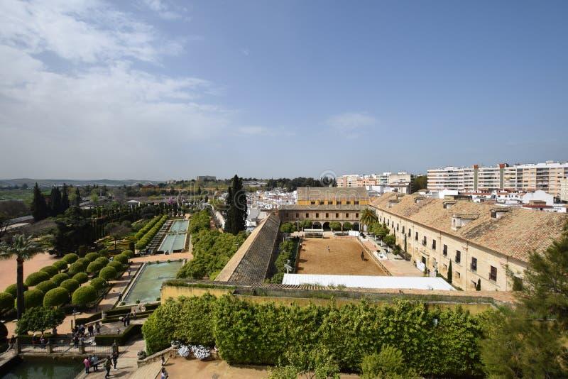 Cordoba. View on Alcazar in Cordoba, Andalusia, Spain royalty free stock photos