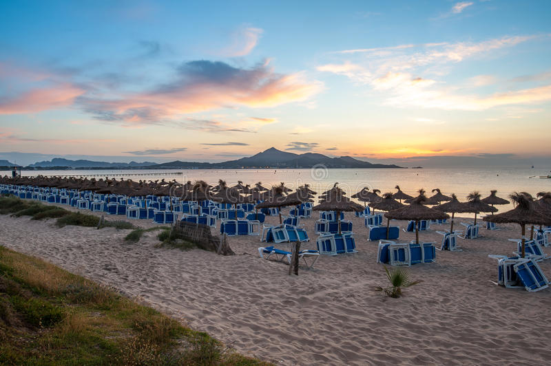 View from Alcudia, Spain royalty free stock image