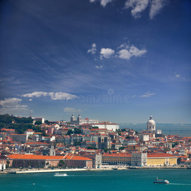 View of Alfama and Graca, cityscape of Lisbon, Portugal, Europe stock photography