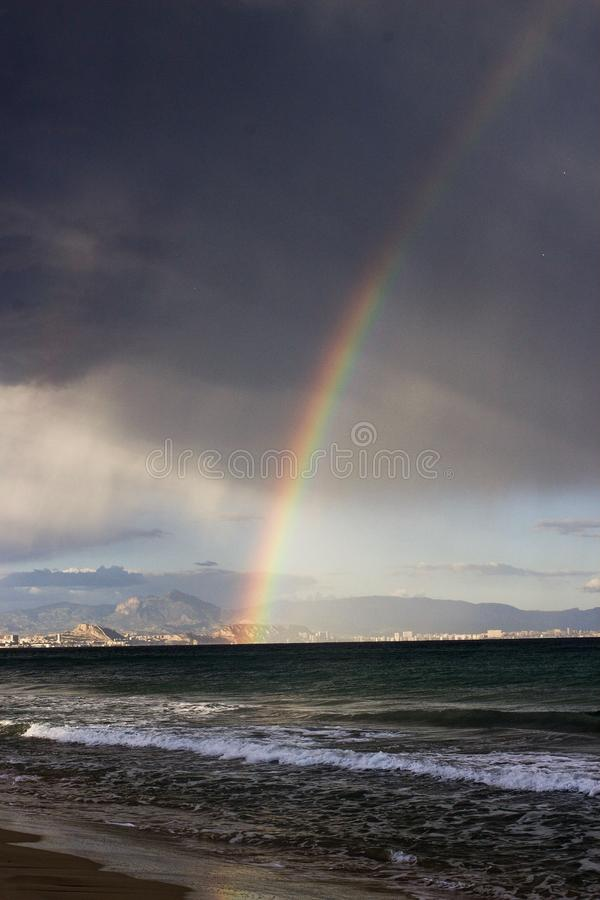 View of Alicante Spain stock photo