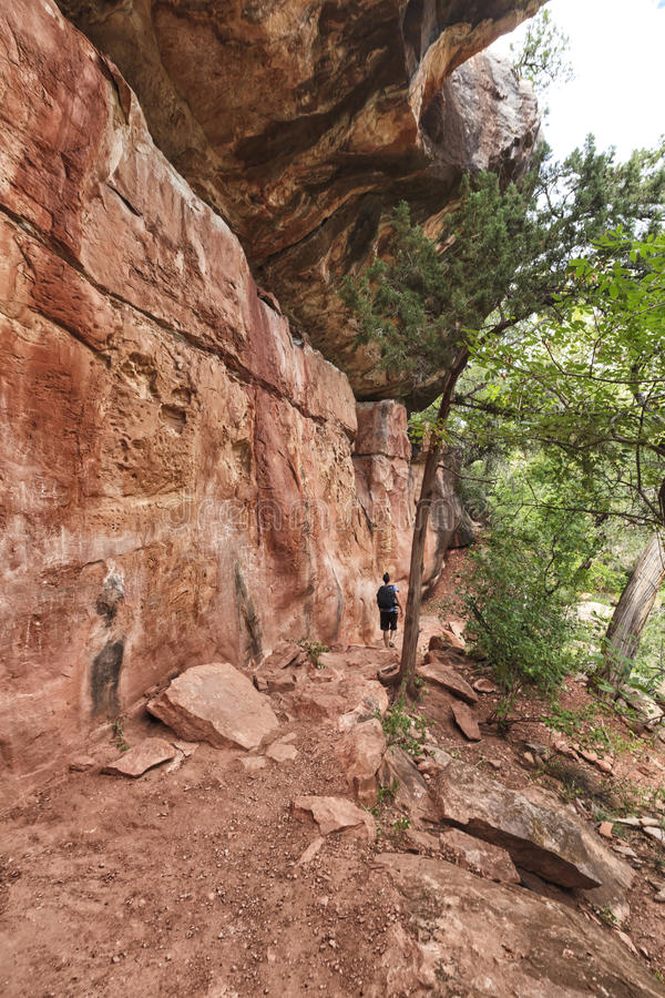 Download View Of The Allens Bend Trail At Sedona Stock Image - Image of layers, bushes: 62149695