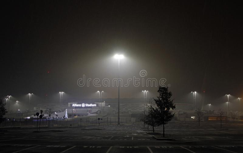 View of the Allianz Stadium, home field for Juventus stock photography