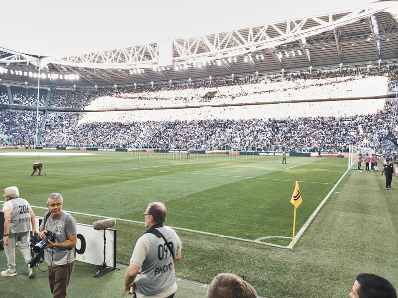View of the Allianz Stadium, the Juventus home field royalty free stock image