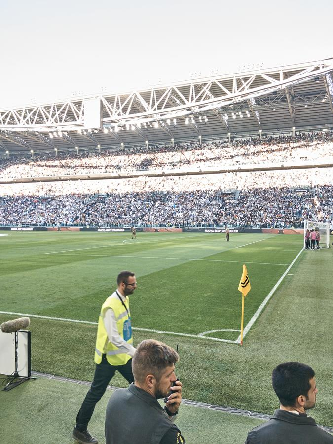 View of the Allianz Stadium, the Juventus home field stock images