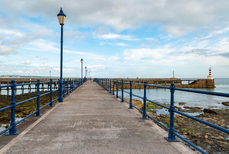 View along an English seaside pier royalty free stock image