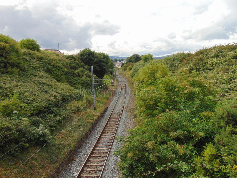 View Along Railway Line royalty free stock image