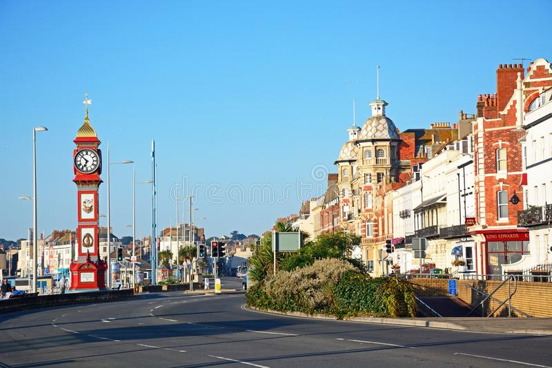 View along Weymouth Esplanade. royalty free stock photography