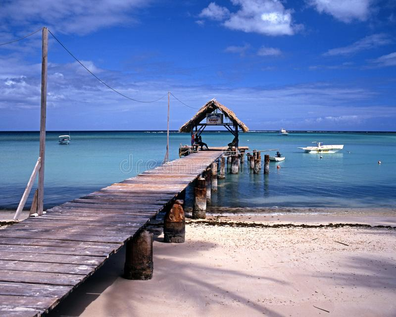 Pigeon Point jetty, Tobago. royalty free stock photography
