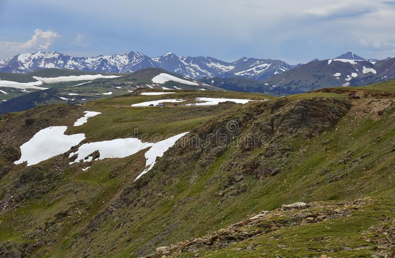 Rocky Mountain National Park, Colorado. View of alpine tundra and the Gore Range, as seen from Trail Ridge Road in Rocky Mountain National Park, Colorado royalty free stock photo