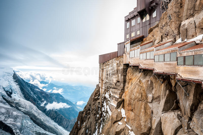 View Of The Alps From Aiguille Du Midi Mountain. Stock Photo