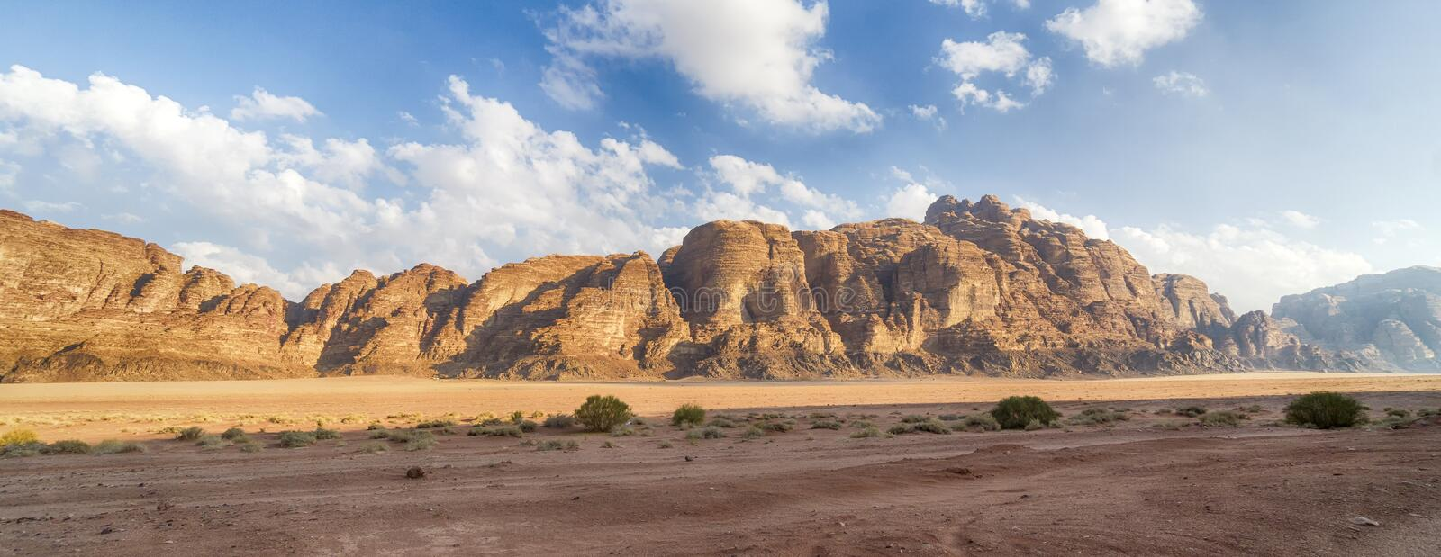 View of Amazing Mountains Landscape in Desert. Panoramic View of Amazing Mountains Landscape in Desert royalty free stock images