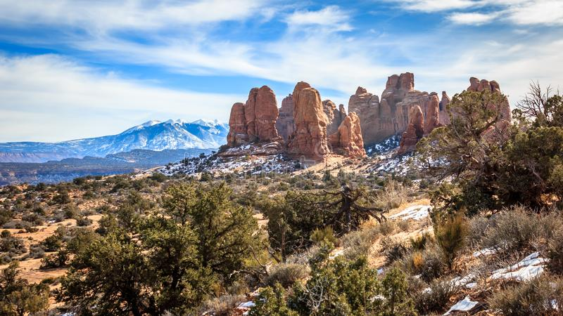 Arches Winter View royalty free stock photography