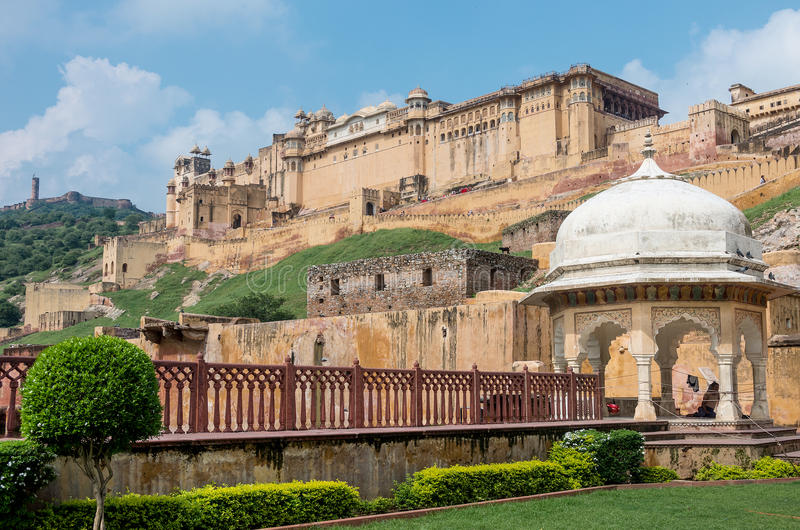 View of Amber fort. Rajasthan - India royalty free stock photo