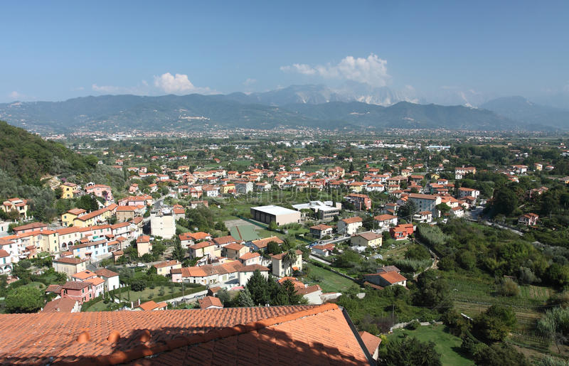 Download View of Ameglia town stock photo. Image of roofs, italyblue - 21635030