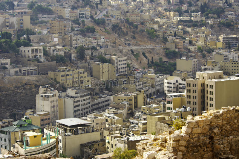 View of the Amman. Jordan. royalty free stock photography