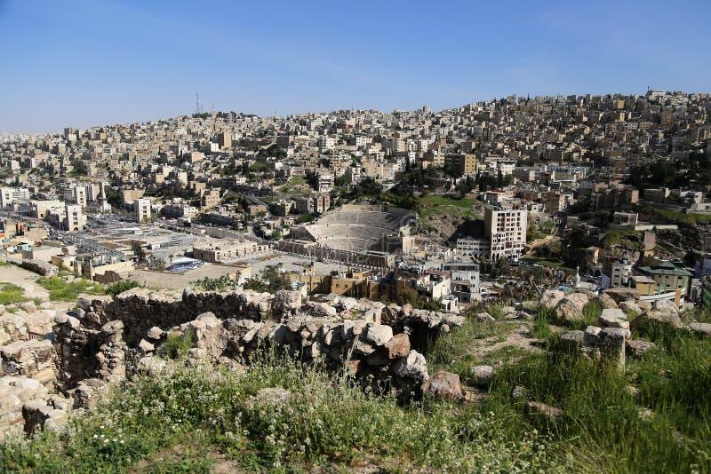 View of Amman's skyline, Jordan.  royalty free stock images