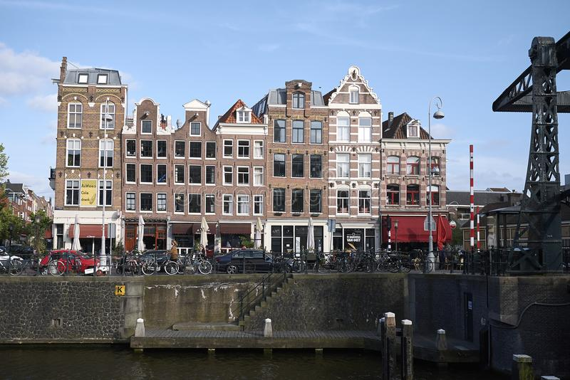 View of amsterdam houses royalty free stock photography