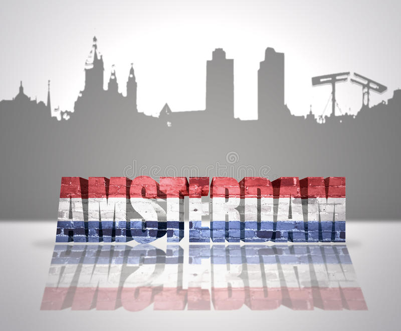 View of Amsterdam stock illustration