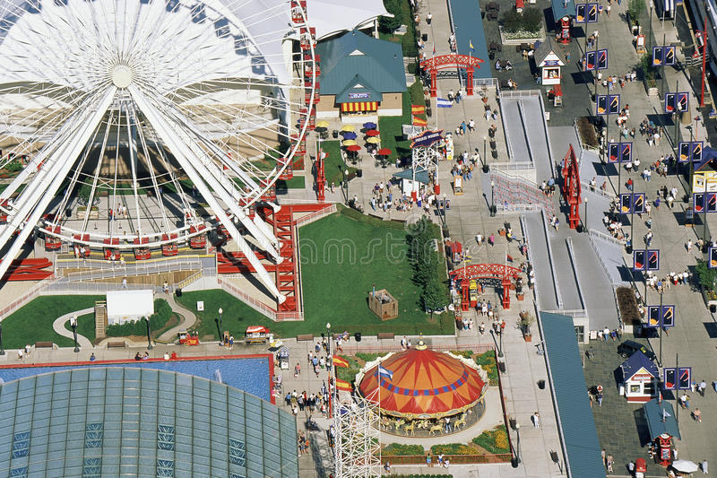 View of amusement park royalty free stock image
