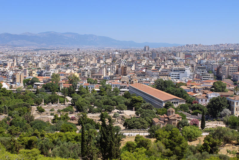 Download View of the ancient agora stock photo. Image of culture - 32227708