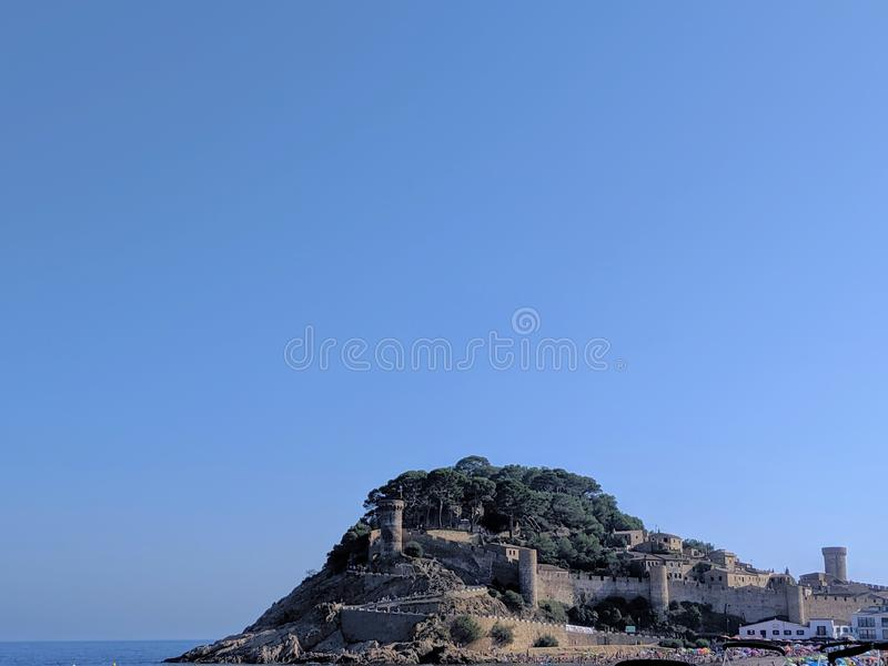 View of the ancient city of Tossa de Mar, Spain royalty free stock photography