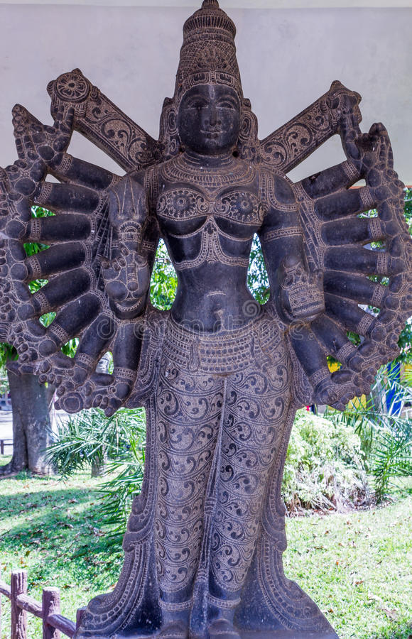 View of ancient indian women sculpture, Chennai, Tamilnadu, India. Jan 29 2017 royalty free stock images