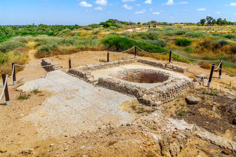Ancient wine press, in Apollonia royalty free stock photo