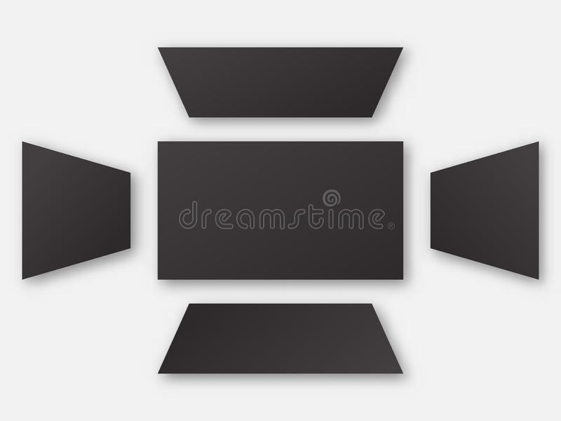 View angle background set . vector illustration