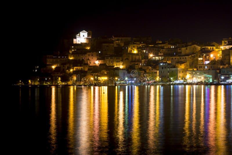 View of Anguillara. A panorama with light reflections of Anguillara-Sabazia,Lazio,italy stock photo