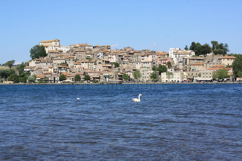 View Of Anguillara (Rome, Italy) Stock Images