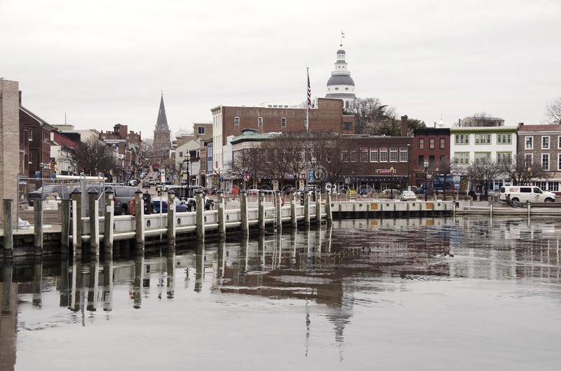 View from the Annapolis port stock photo