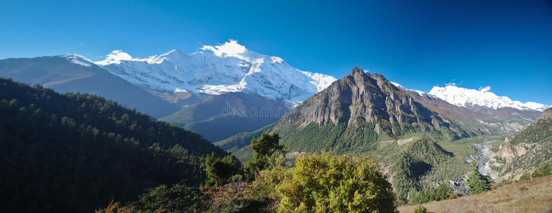 View of Annapurna, Nepal royalty free stock photo
