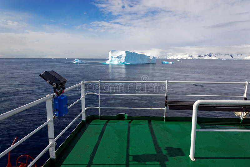 View from antarctic research ship, Antarctica royalty free stock image