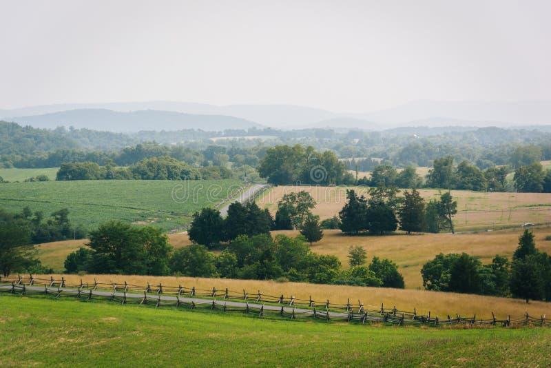 View of Antietam National Battlefield, Maryland. The historic Joseph Poffenberger Farm at Antietam National Battlefield, Maryland stock photos