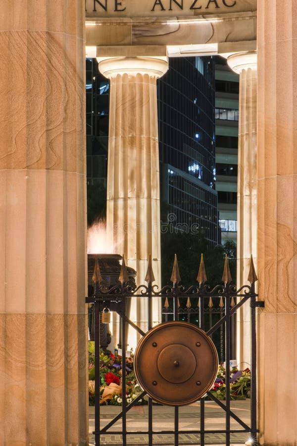Brisbane, Australia - Saturday 28th April, 2018: View of Anzac Square War Memorial in Brisbane City on Saturday 28th April 2018. royalty free stock image
