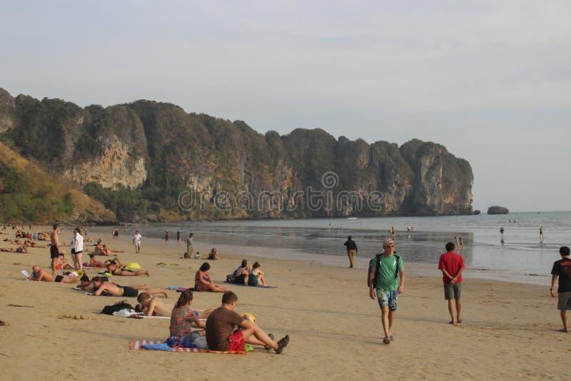View of Ao Nang Beach, Krabi, Thailand. royalty free stock images