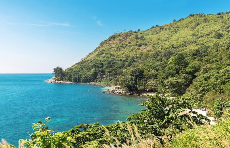 View on Ao Sane beach at Rawai area, Phuket island. View on Ao Sane beach at Rawai area on Phuket island stock images