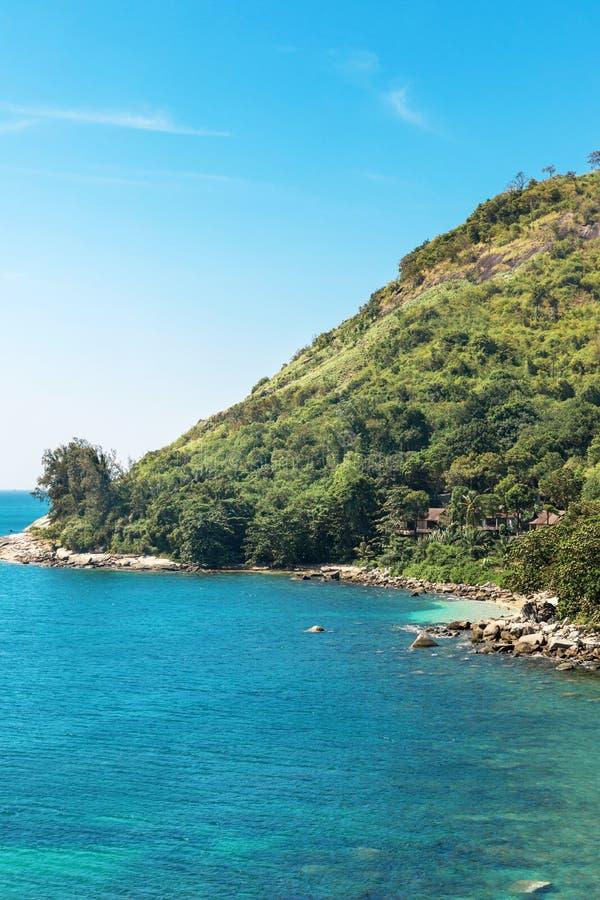 View on Ao Sane beach at Rawai area, Phuket island. View on Ao Sane beach at Rawai area on Phuket island stock photo