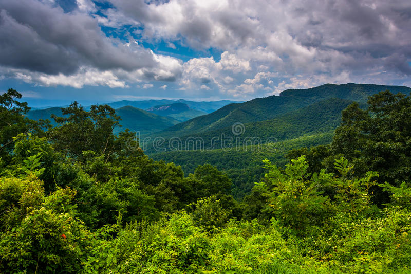 View of the Appalachians from the Blue Ridge Parkway in North Ca. Rolina royalty free stock photo