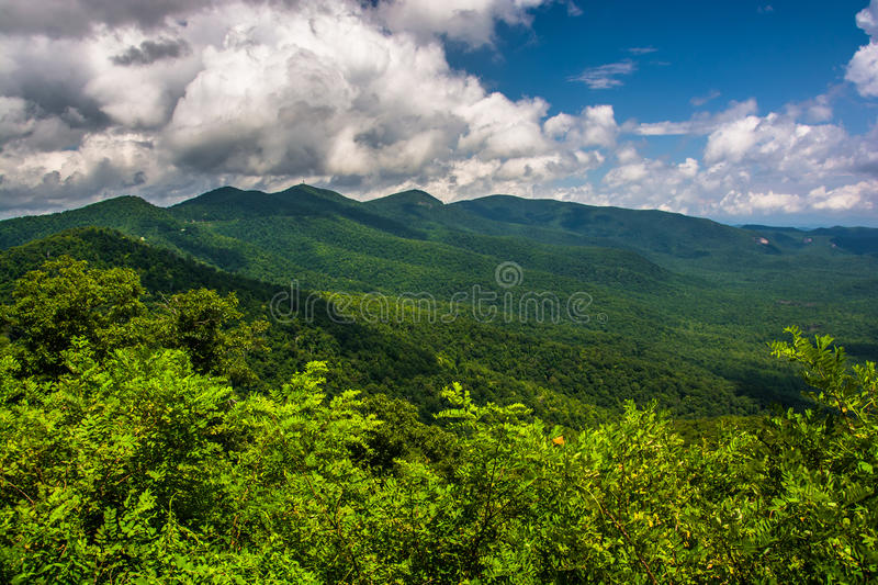 View of the Appalachians from the Blue Ridge Parkway in North Ca. Rolina royalty free stock images