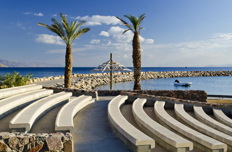 View on Aqaba gulf, Eilat, Israel. Eilat is a famous resort and recreation city in Israel located on the Red Sea stock images