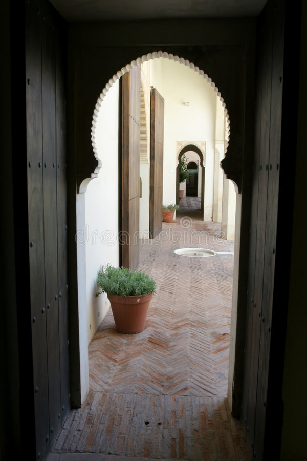 View through an Arabic door stock photo