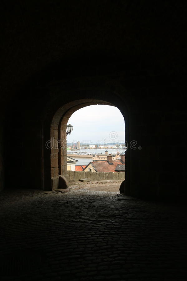View through the archway royalty free stock photography