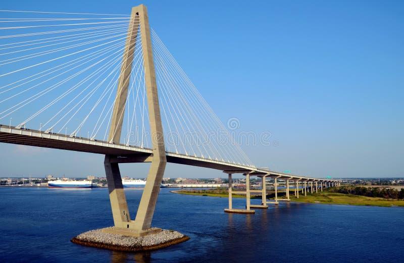 Arthur Ravenel Jr. Bridge in Charleston, South Caroline. royalty free stock photography