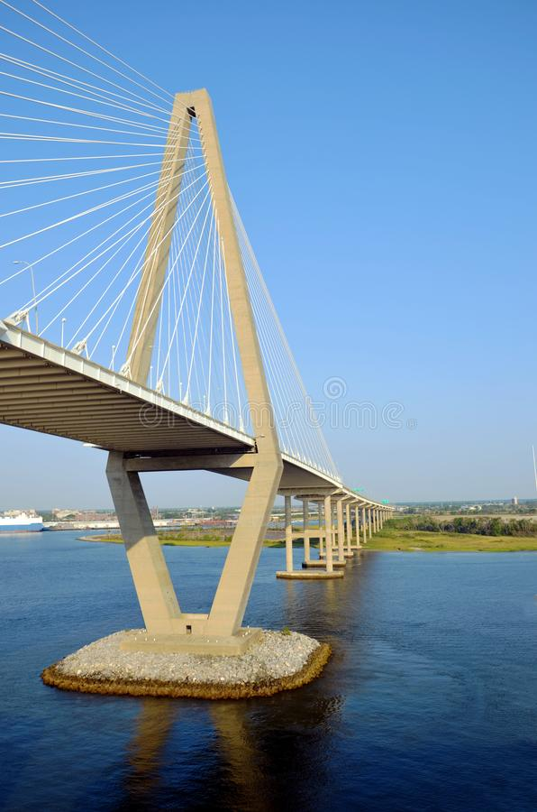 Arthur Ravenel Jr. Bridge in Charleston, South Caroline. stock photos